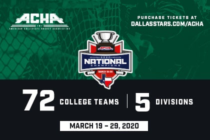 More Info for 2020 ACHA NATIONAL CHAMPIONSHIPS