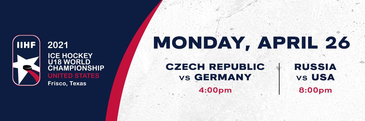 IIHF- Czech Republic vs Germany & Russia vs USA
