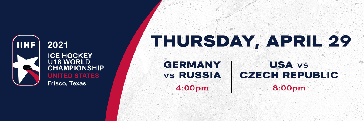 IIHF- Germany vs Russia & USA vs Czech Republic