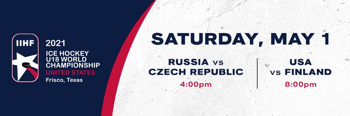 IIHF- Russia vs Czech Republic & USA vs Finland