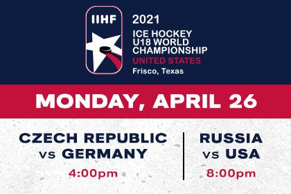 More Info for IIHF- Czech Republic vs Germany & Russia vs USA
