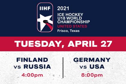 More Info for IIHF- Finland vs Russia & Germany vs USA