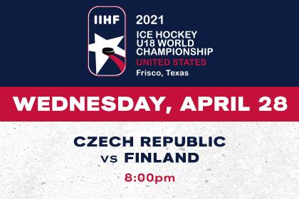 More Info for IIHF- Czech Republic vs Finland
