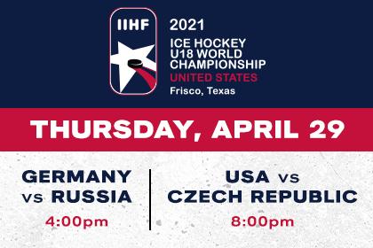 More Info for IIHF- Germany vs Russia & USA vs Czech Republic