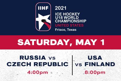 More Info for IIHF- Russia vs Czech Republic & USA vs Finland