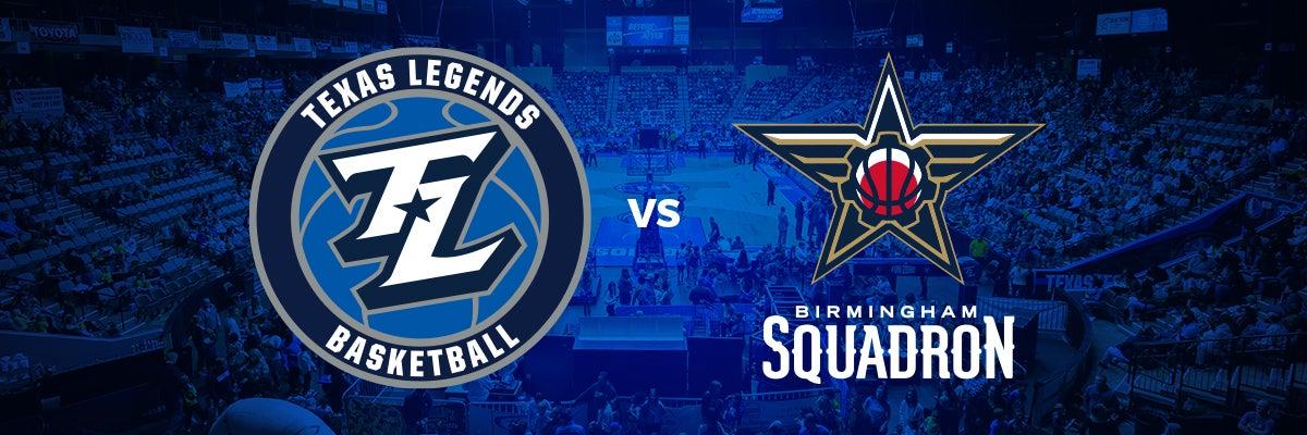 Texas Legends vs Birmingham Squadron
