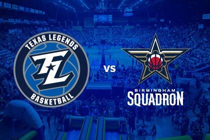 More Info for Texas Legends vs Birmingham Squadron