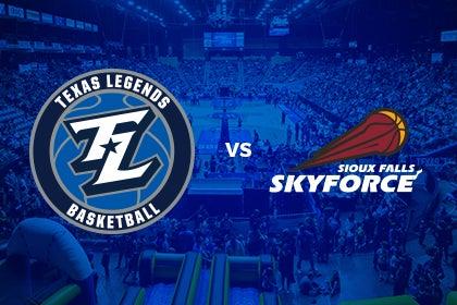More Info for Texas Legends vs Sioux Falls Skyforce